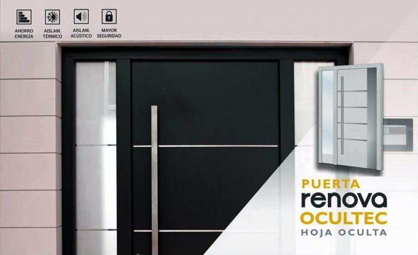 Puertas de entrada a vivienda de aluminio en Carpinteria de aluminio Bellavista